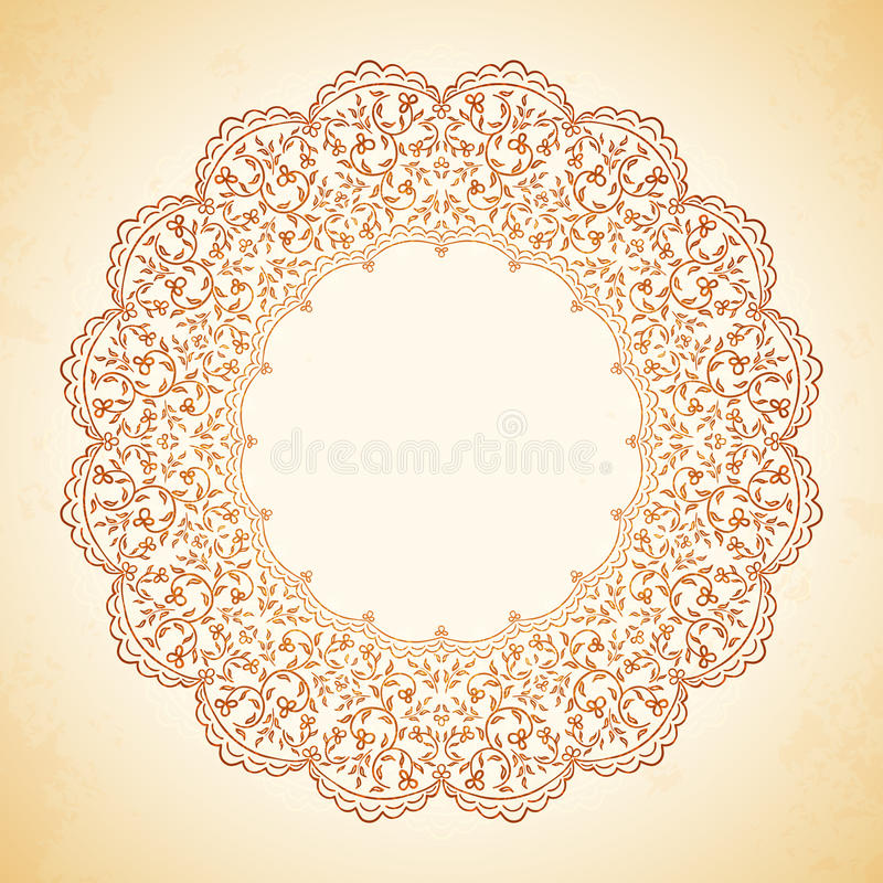 Modelo circular de flores stock de ilustración