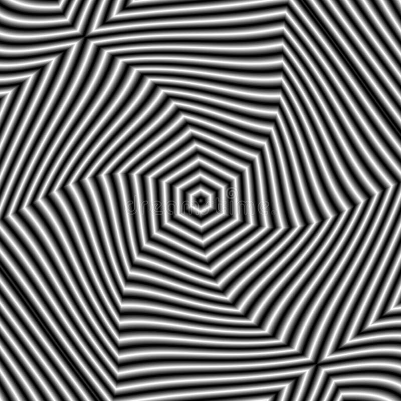 Modelo circular en el estilo del grunge, blanco y negro, movimiento del efecto libre illustration