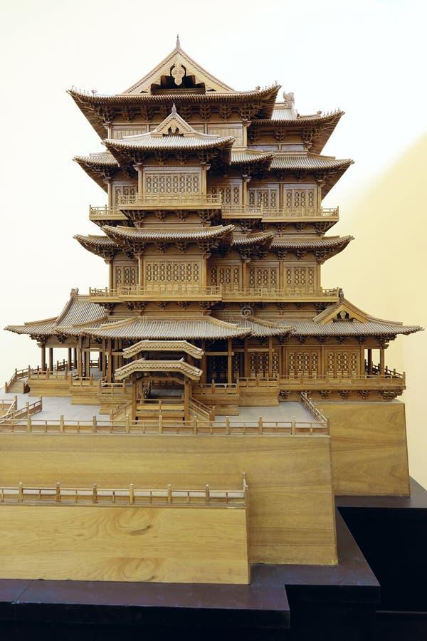 Modelo clásico antiguo chino de la arquitectura foto de archivo libre de regalías