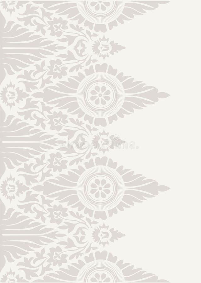 Modelo clásico del fondo del papel pintado floral libre illustration