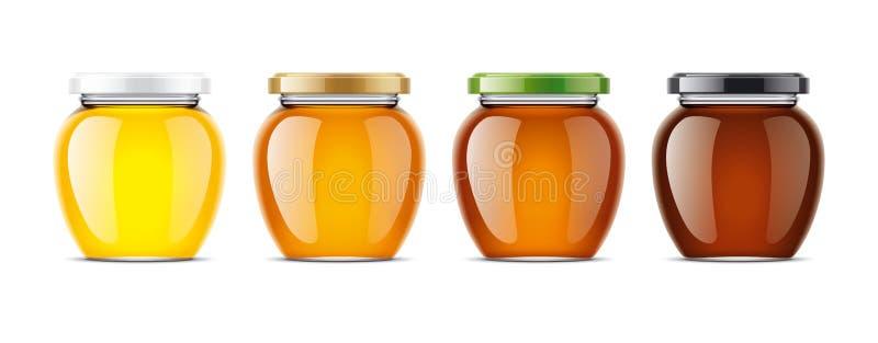 Modelo claro de Honey Jar imagem de stock royalty free
