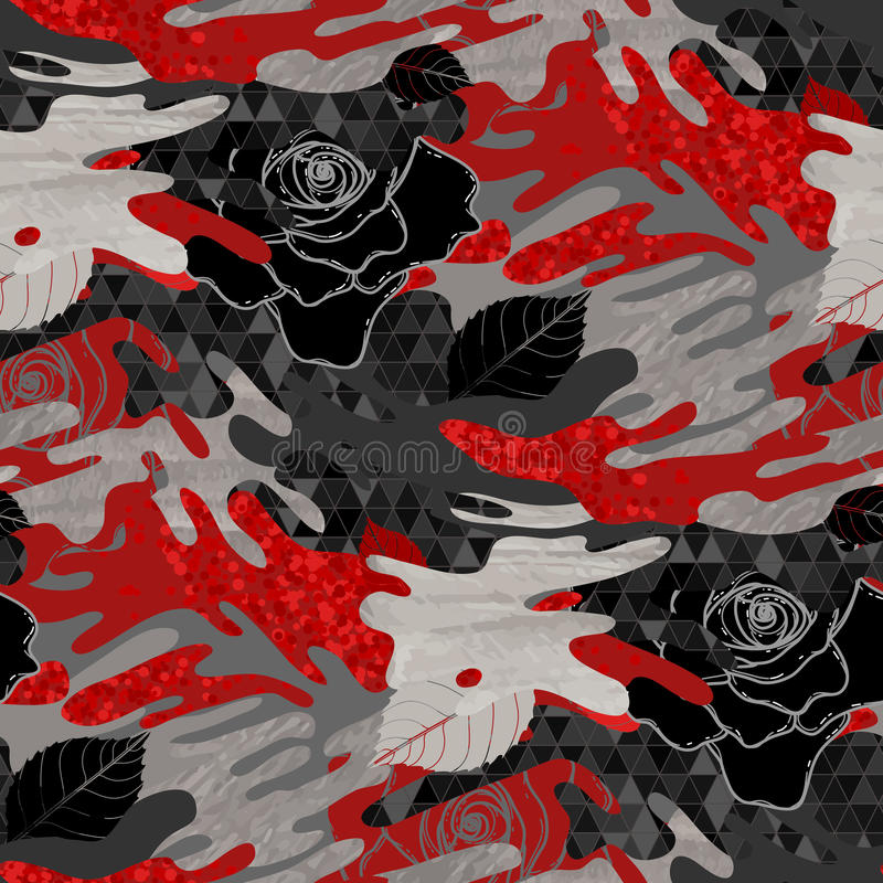Modelo color de rosa del extracto libre illustration