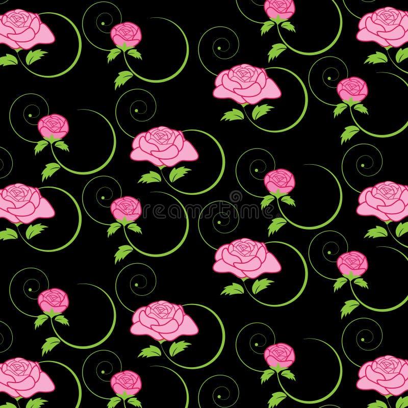 Modelo color de rosa floral stock de ilustración