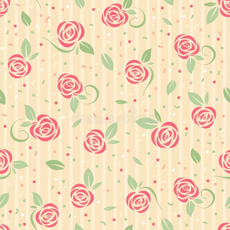Modelo color de rosa inconsútil ilustración del vector