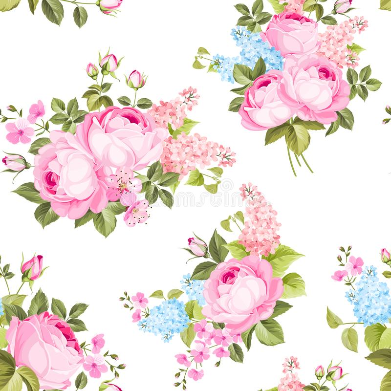 Modelo color de rosa inconsútil elegante libre illustration