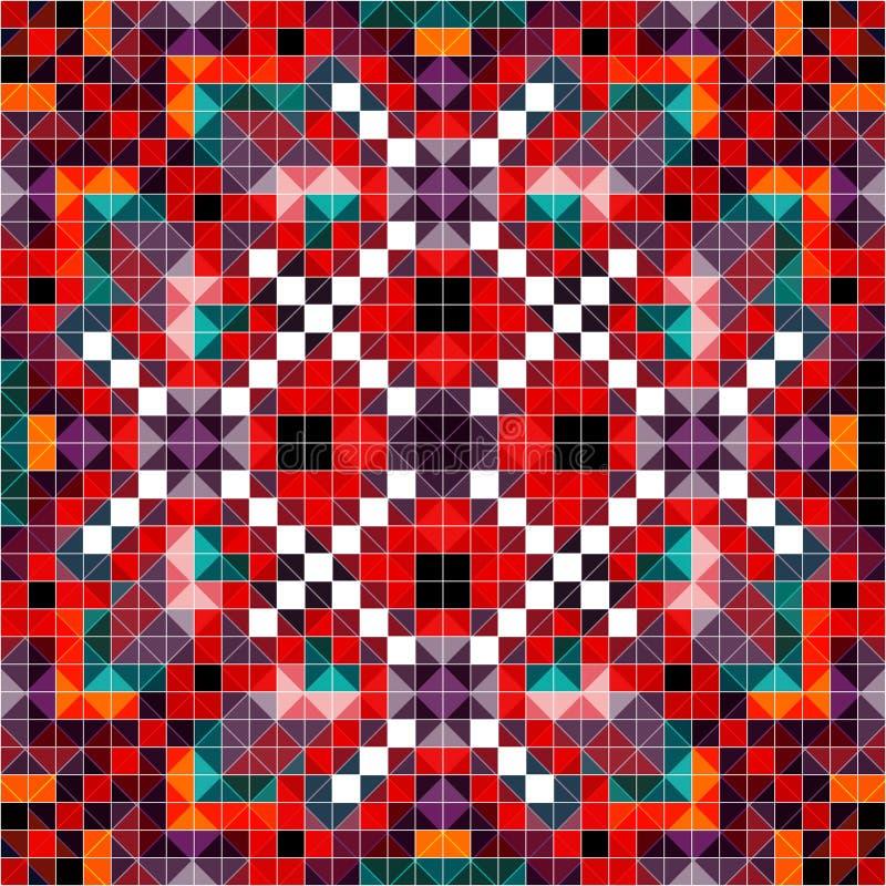 Modelo coloreado del pixel en el ejemplo retro del vector del estilo stock de ilustración