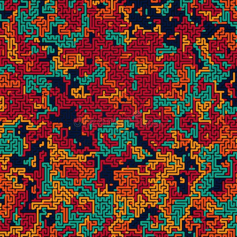 Modelo coloreado extracto del camuflaje Fondo futurista de la composición Concepto del laberinto representación 3d foto de archivo