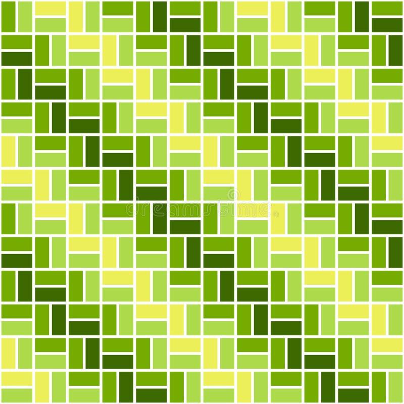 Modelo coloreado inconsútil con rectángulos del color amarillo y verde El zigzag o elude la visión libre illustration