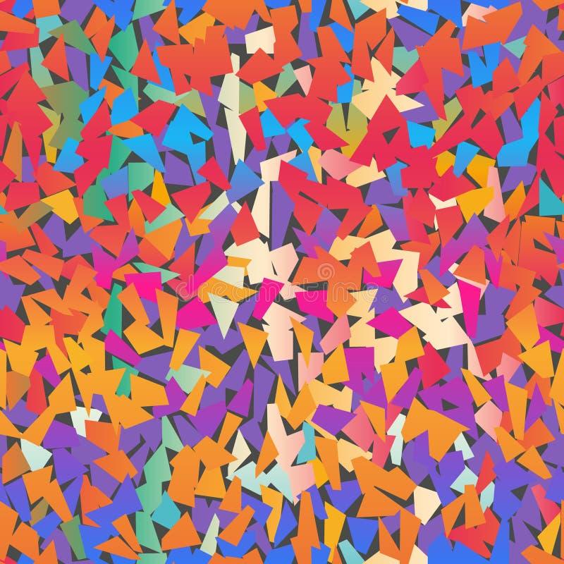 Modelo coloreado multi del confeti imagen de archivo