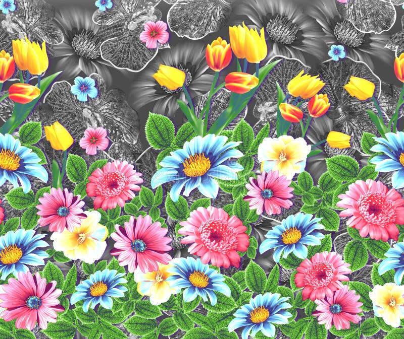 Modelo colorido abstracto de la impresión de bloque libre illustration