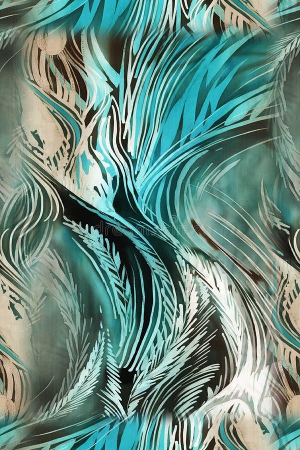 Modelo colorido abstracto de la impresión de bloque ilustración del vector