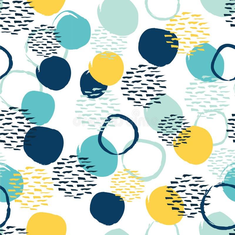 Modelo colorido abstracto inconsútil del círculo ilustración del vector