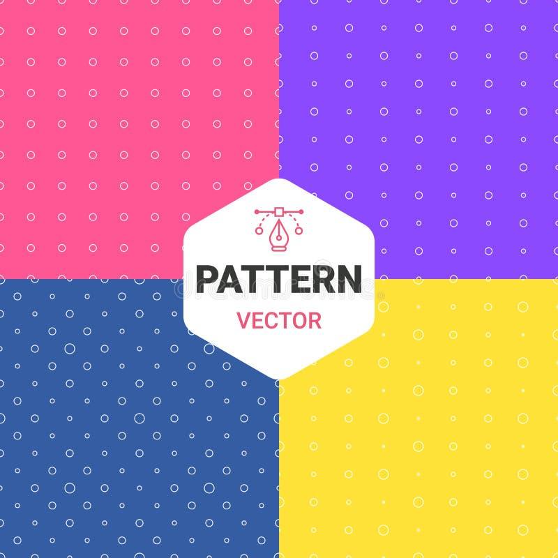 Modelo colorido de los puntos de los múltiplos Fije los fondos Ilustración del vector Uso de mayo para el papel, materia textil ilustración del vector