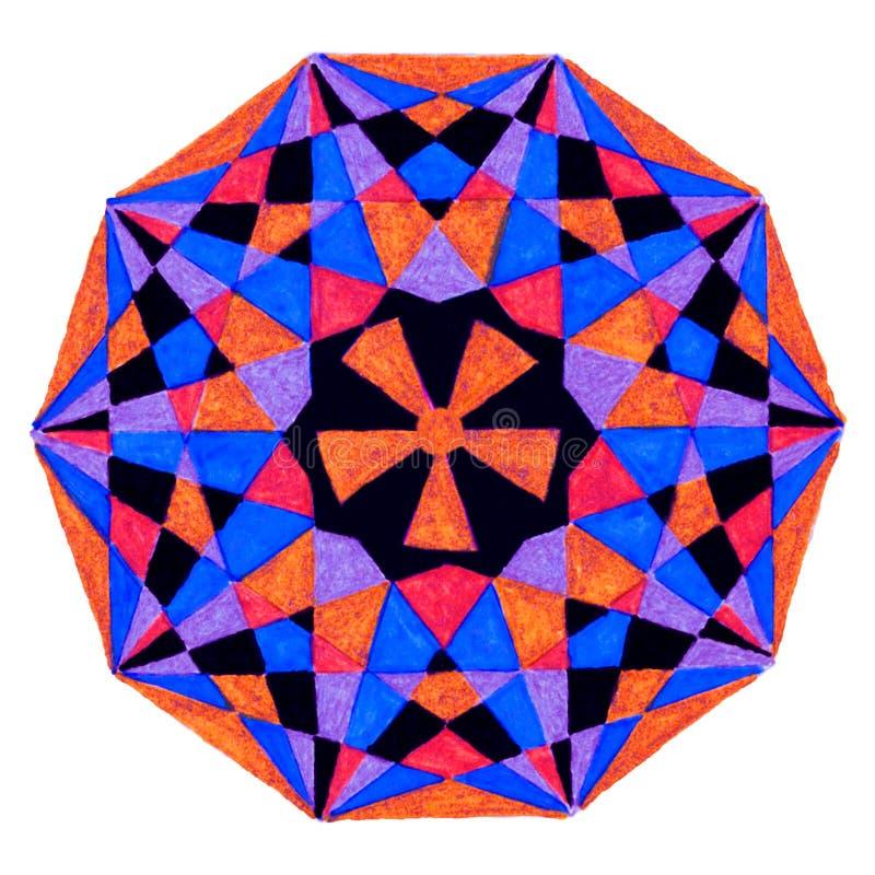 Modelo colorido del decagon imagen de archivo