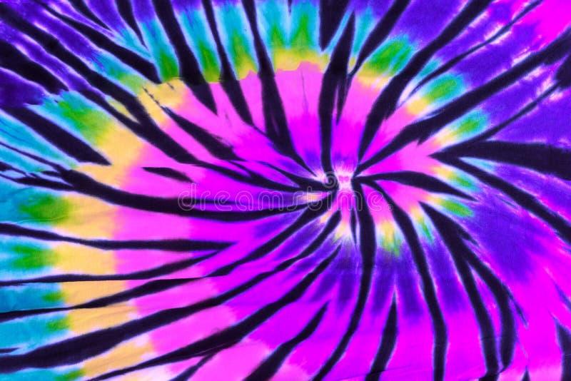 Modelo colorido del diseño del espiral del remolino del teñido anudado fotografía de archivo