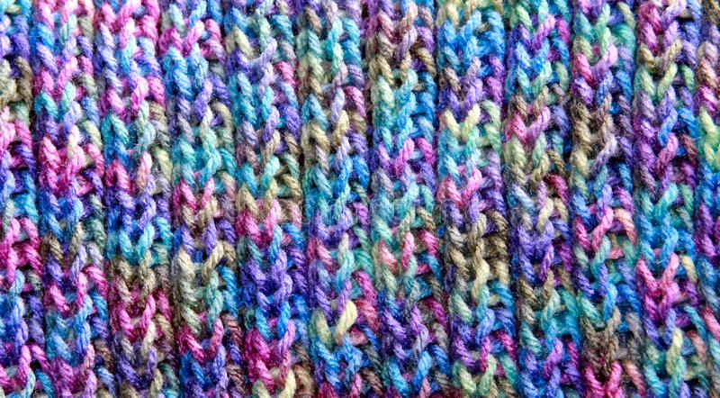 Modelo colorido del Knit de la puntada de la costilla foto de archivo libre de regalías
