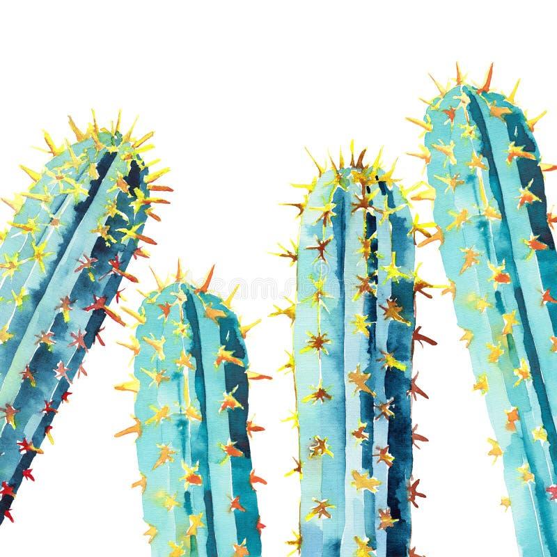 Modelo colorido del mexicano del verano herbario floral tropical brillante precioso hermoso de Hawaii de un ejemplo de la mano de stock de ilustración