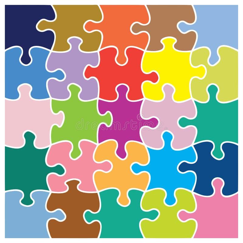 Modelo colorido del rompecabezas ilustración del vector