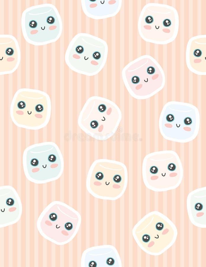 Modelo colorido divertido del vector del limo de la espuma del gusto por lo dulce Historieta simple del estilo de Kawaii stock de ilustración
