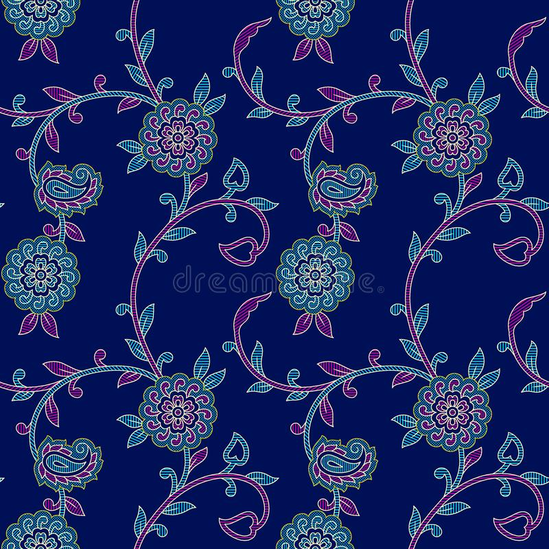Modelo colorido floral inconsútil de Paisley libre illustration
