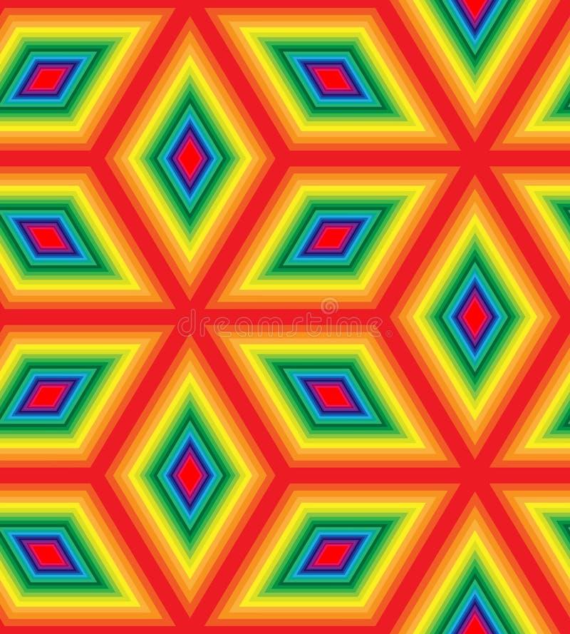 Modelo colorido inconsútil del Rhombus Fondo abstracto geométrico poligonal iridiscente libre illustration