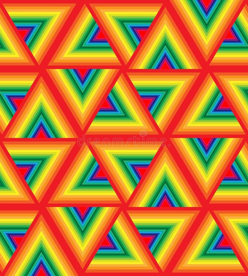 Modelo colorido inconsútil del triángulo Fondo abstracto geométrico poligonal iridiscente stock de ilustración