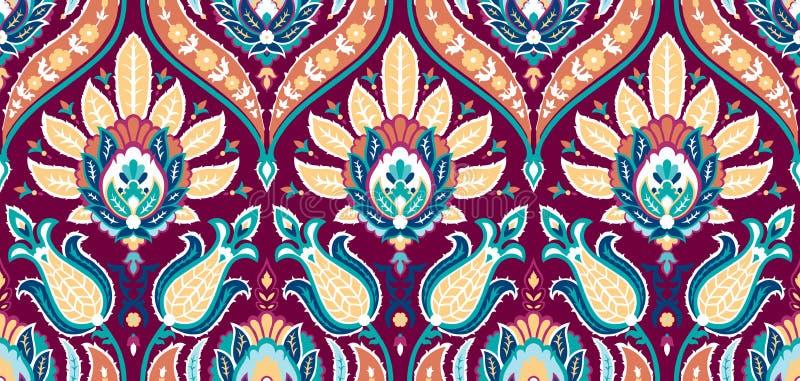 Modelo colorido inconsútil del vector en estilo turco Fondo decorativo de la vendimia Ornamento drenado mano Islam, árabe libre illustration