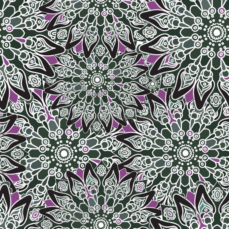 Modelo colorido inconsútil Estilo oriental Textura de la tela o del papel pintado ilustración del vector
