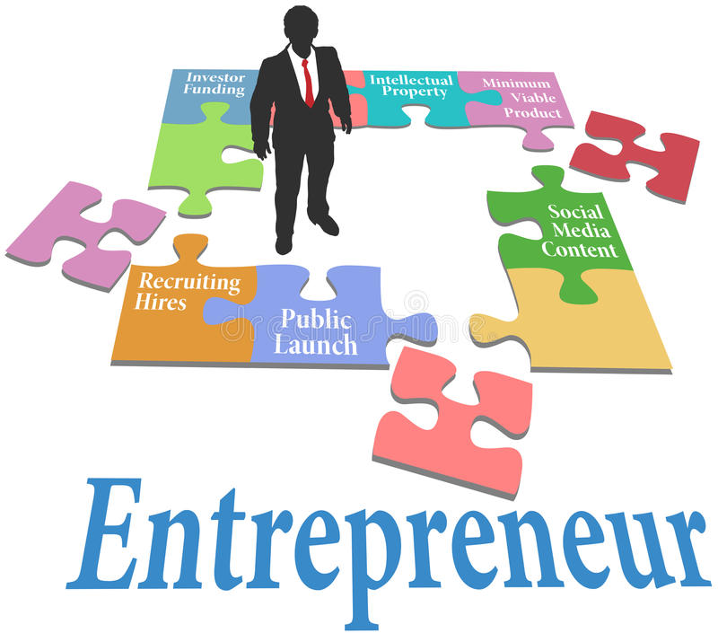 Modelo comercial da partida do achado do empresário ilustração stock