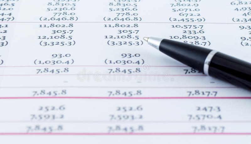 Modelo comercial financiero Accounting fotos de archivo libres de regalías