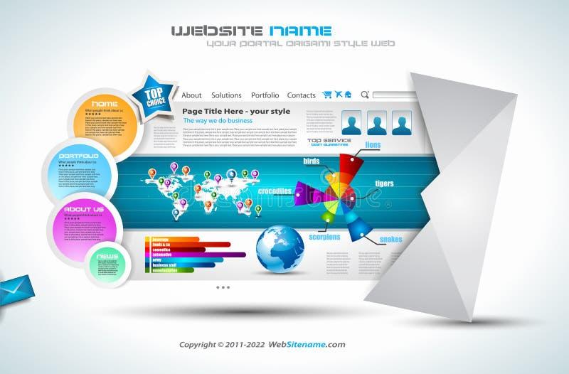 Modelo complejo del Web site - diseño elegante stock de ilustración