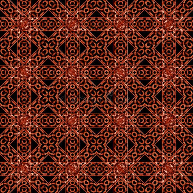 Modelo complejo geométrico del estilo islámico ilustración del vector