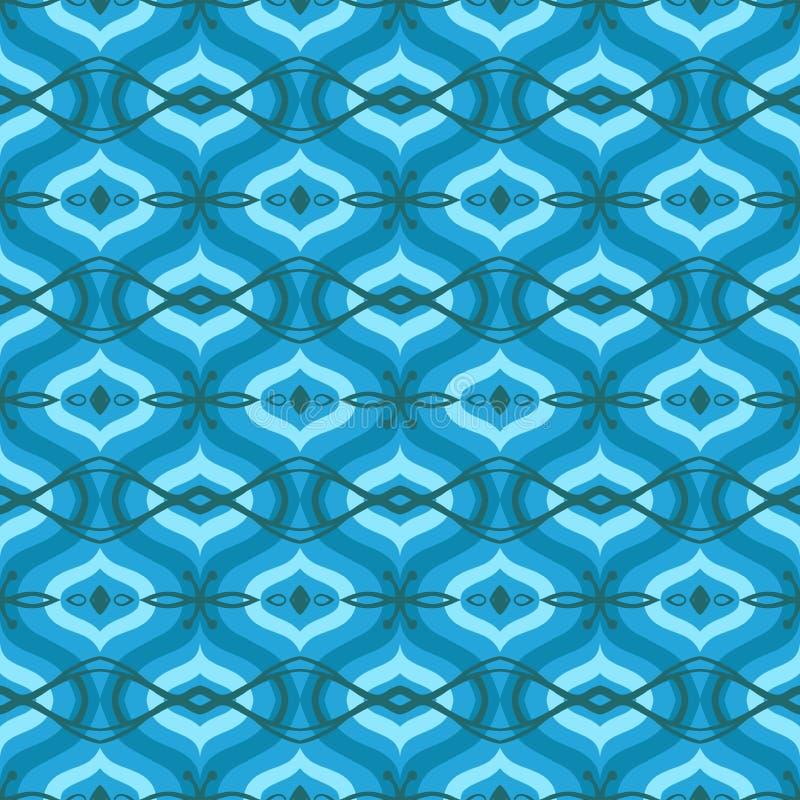Modelo con adornos árabes en sombras del azul ilustración del vector