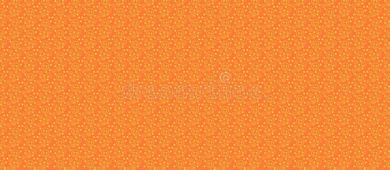 Modelo con diversos smiley en una naranja stock de ilustración