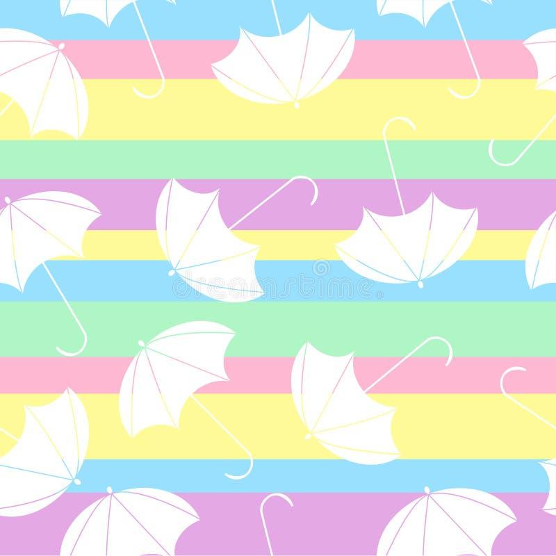 Modelo con el paraguas de los multicolors en extracto libre illustration