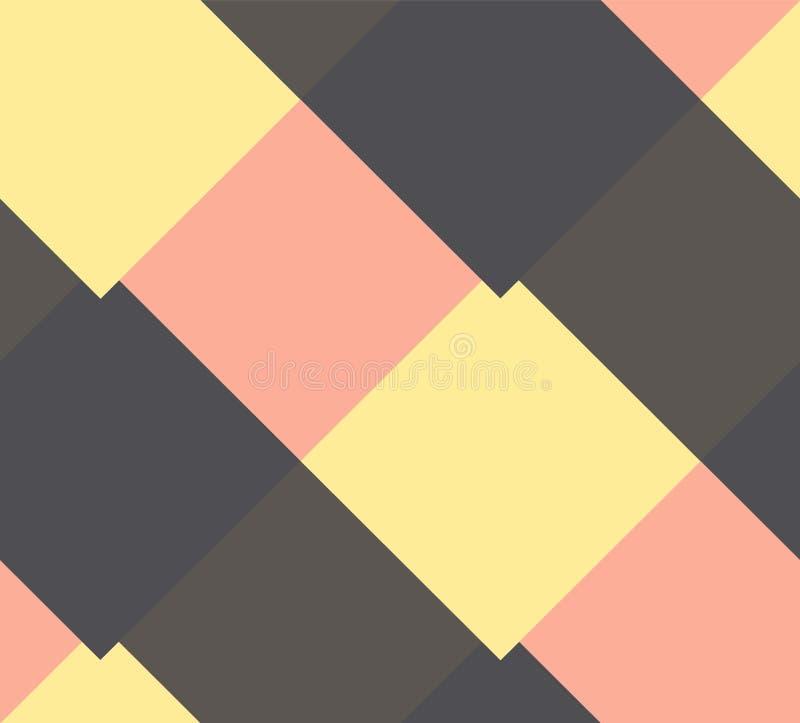 Modelo con el Rhombus de los multicolors stock de ilustración
