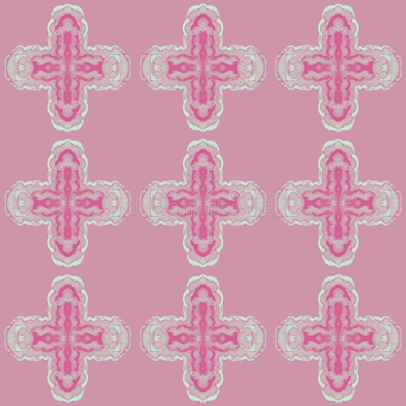 Modelo con la decoración de repetición cruciforme en un fondo coloreado libre illustration