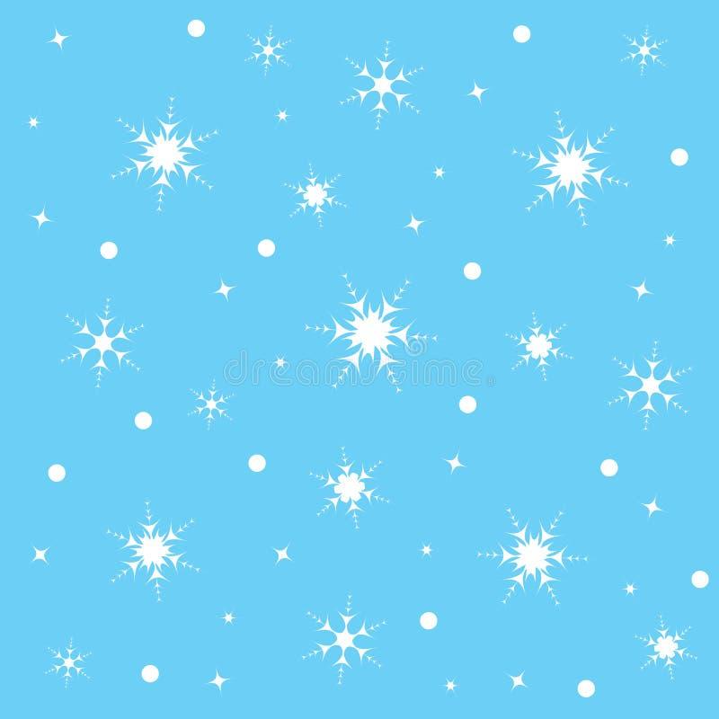 modelo con los copos de nieve ilustración del vector
