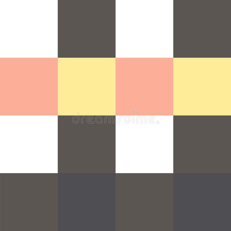 Modelo con los cuadrados multicolores stock de ilustración