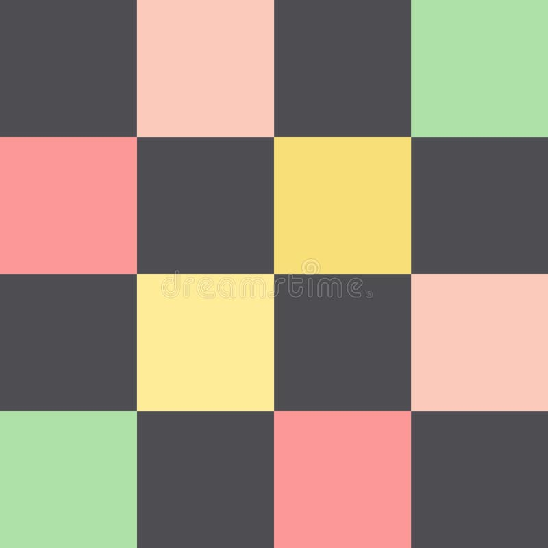 Modelo con los cuadrados multicolores ilustración del vector