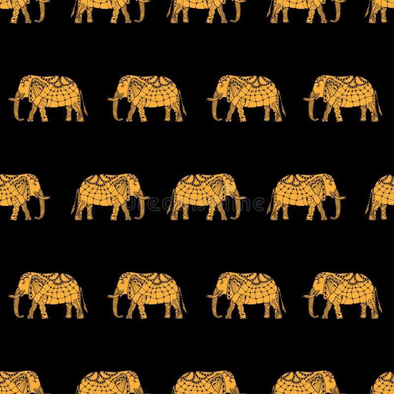 Modelo con los elefantes indios libre illustration