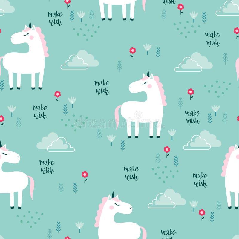 Modelo con unicornio libre illustration