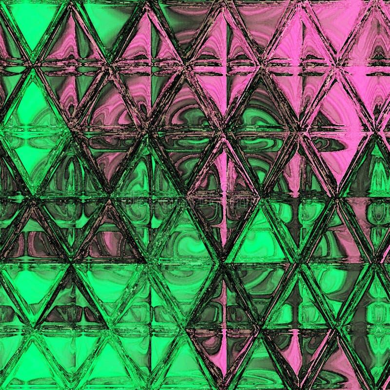 Modelo continuo de los triángulos de la acuarela Fondo moderno del inconformista fotos de archivo