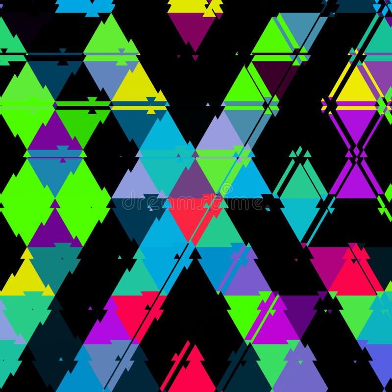 Modelo continuo de los triángulos vivos coloridos ilustración del vector