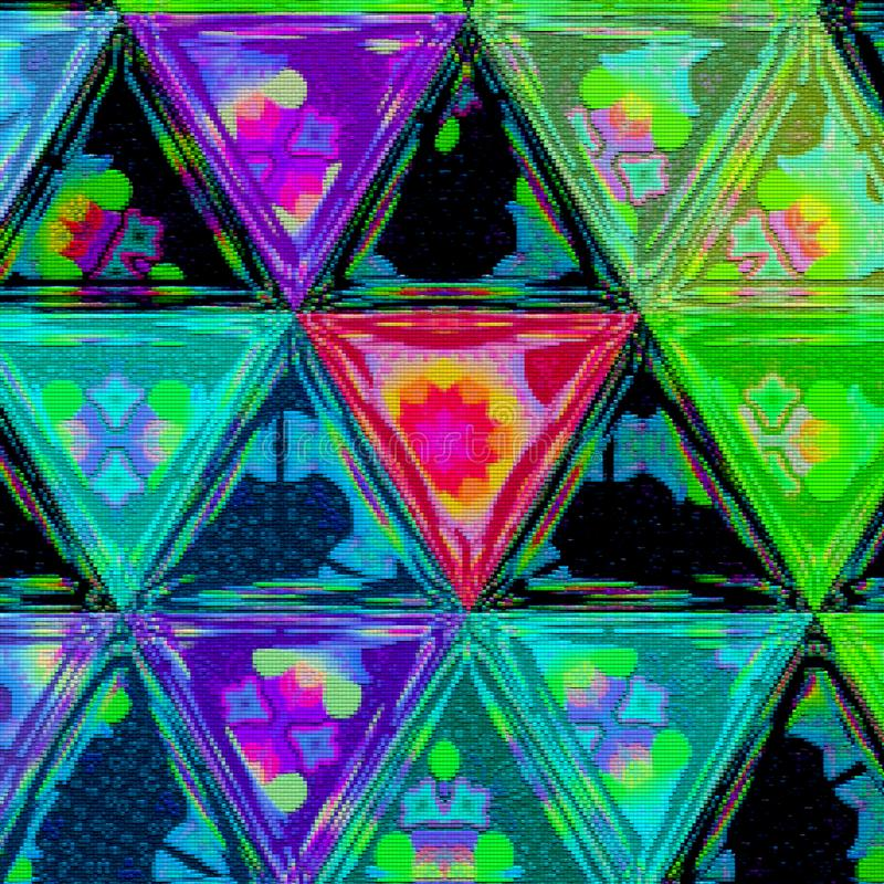 Modelo continuo del triángulo de los puntos coloridos para el bordado libre illustration