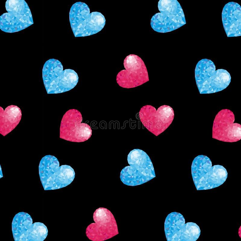 Modelo Corazón triangulación imagen de archivo libre de regalías