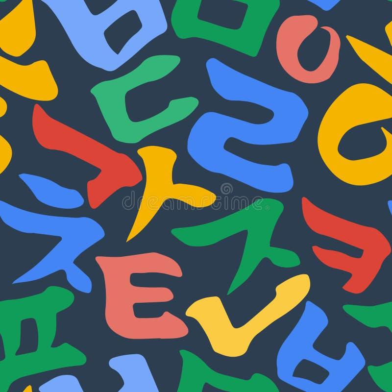 Modelo coreano del alfabeto stock de ilustración