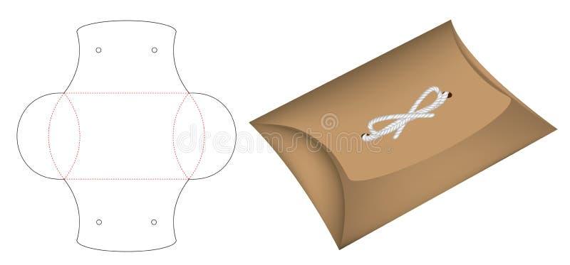 Modelo cortado caixa 3d do molde do bloco do descanso ilustração do vetor