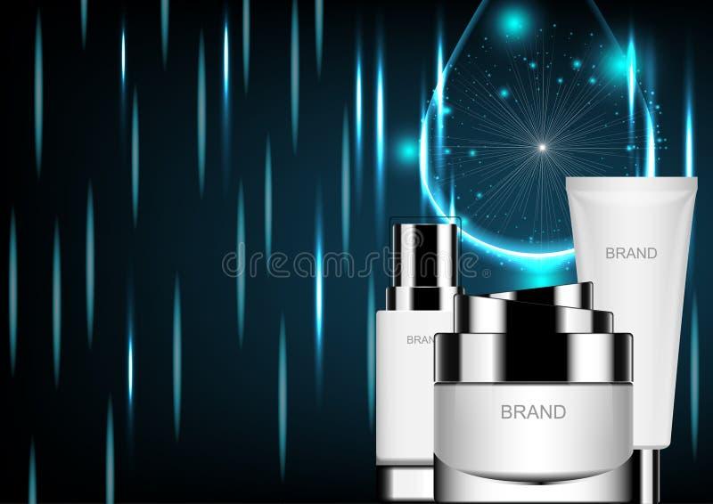 Modelo cosmético ilustração royalty free