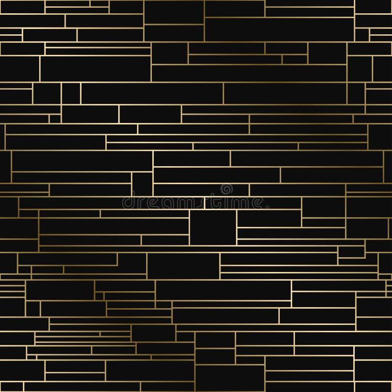 Modelo creativo geométrico del vector - diseño de lujo inconsútil de la pendiente del oro Fondo sin fin rico libre illustration